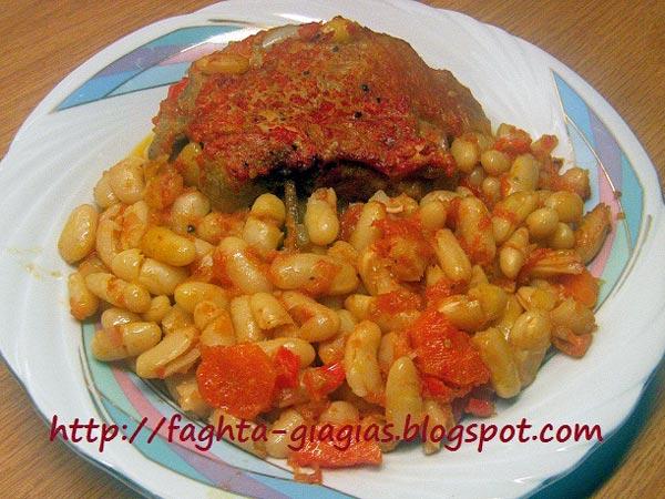 Αρνί με ξερά φασόλια στη γάστρα - από «Τα φαγητά της γιαγιάς»