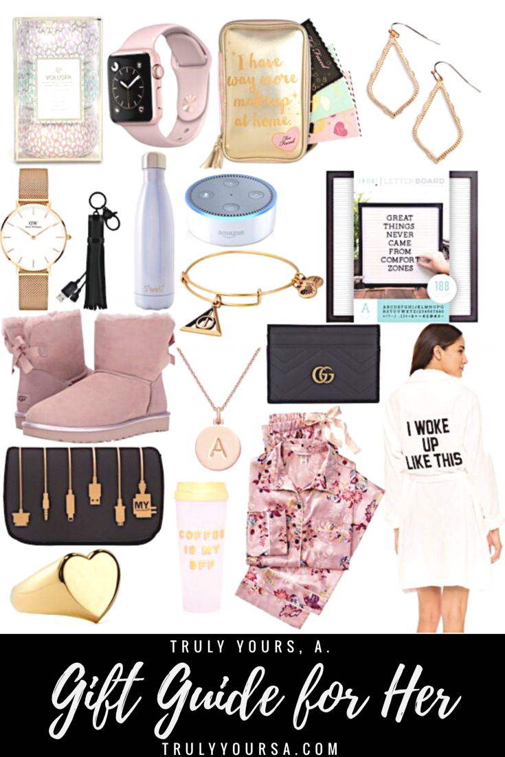 ''Tis the season for gift giving and I've got you covered for all the ladies in your life! This girly gift guide has something for all the women on your list no matter what your budget is. Most of these gifts are under $100, but I did include a few splurge-worthy items. It was so hard narrowing these picks down so I included an additional list of items that would make great stocking stuffers!