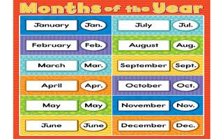 महीनों के नाम हिंदी और अंग्रेजी में ▷ Months Name