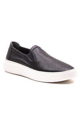 siyah kadın bağcıksız ayakkabı
