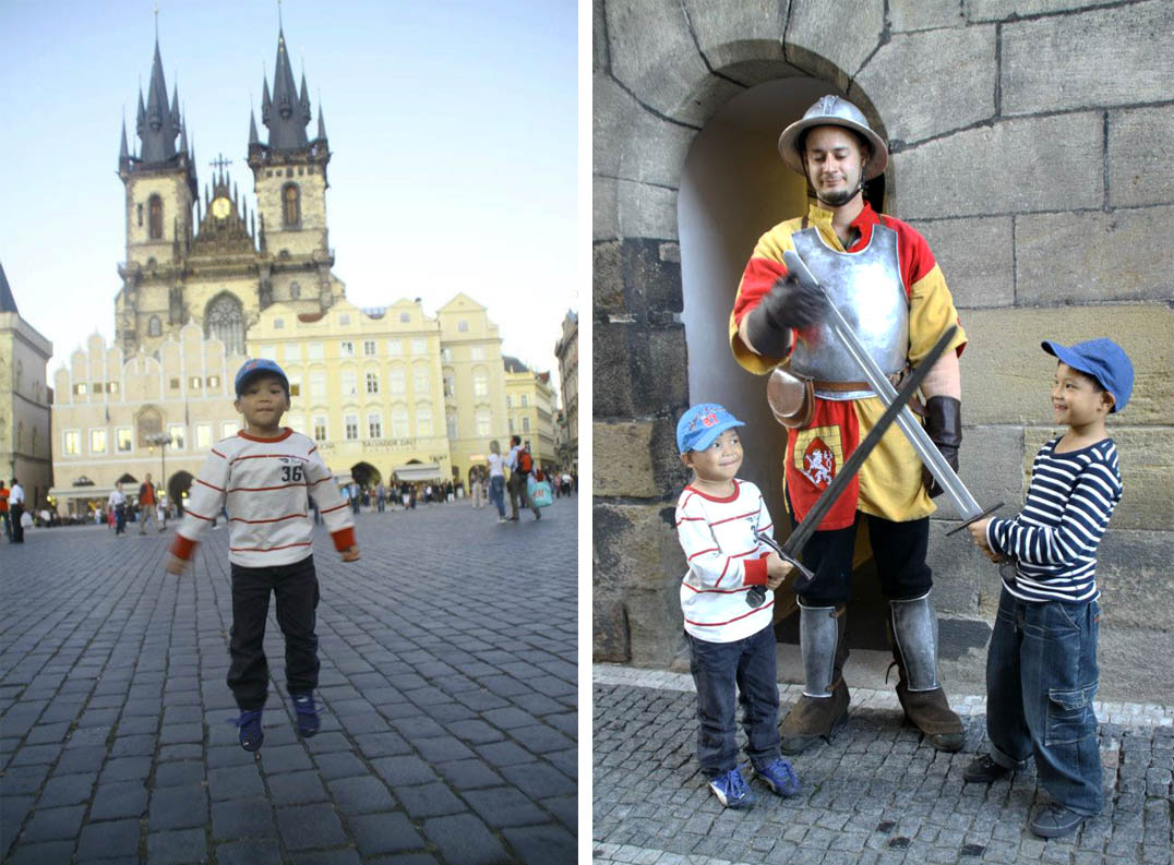 Family City Break in Prague, the City of a Hundred Spires old town