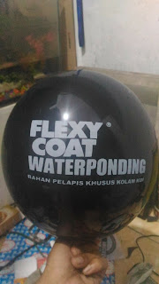 balon printing flexy coat waterponding