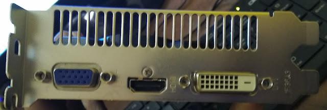 port VGA Powercolor Radeon R7 250 2GB DDR5 128Bit