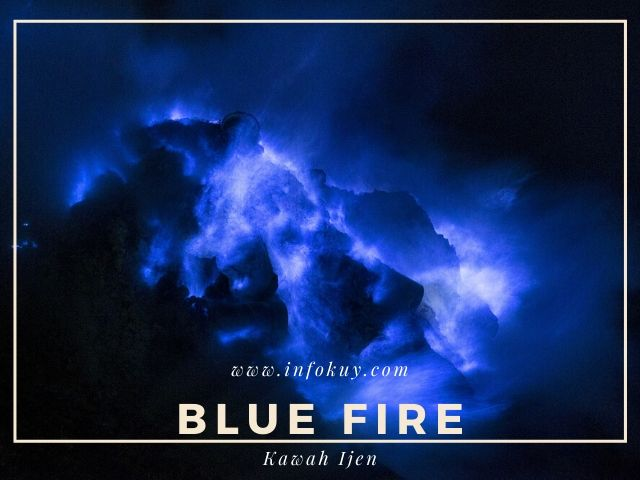 blue fire kawah ijen, api biru kawah ijen