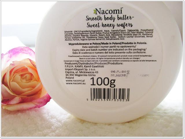 Masło do ciała Miodowe Gofry Nacomi skład