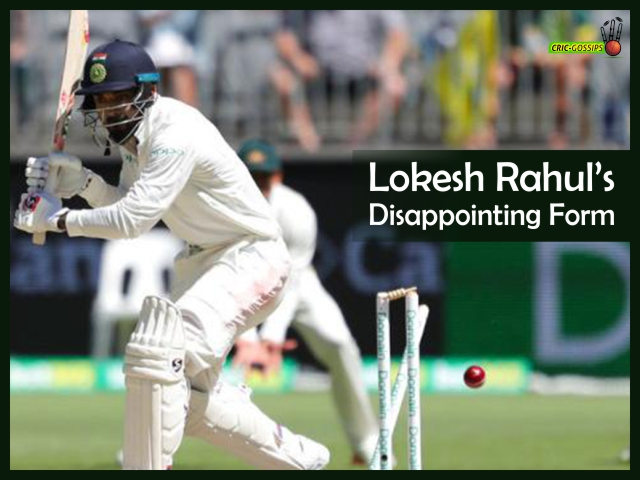 Lokesh Rahul's disappointing form
