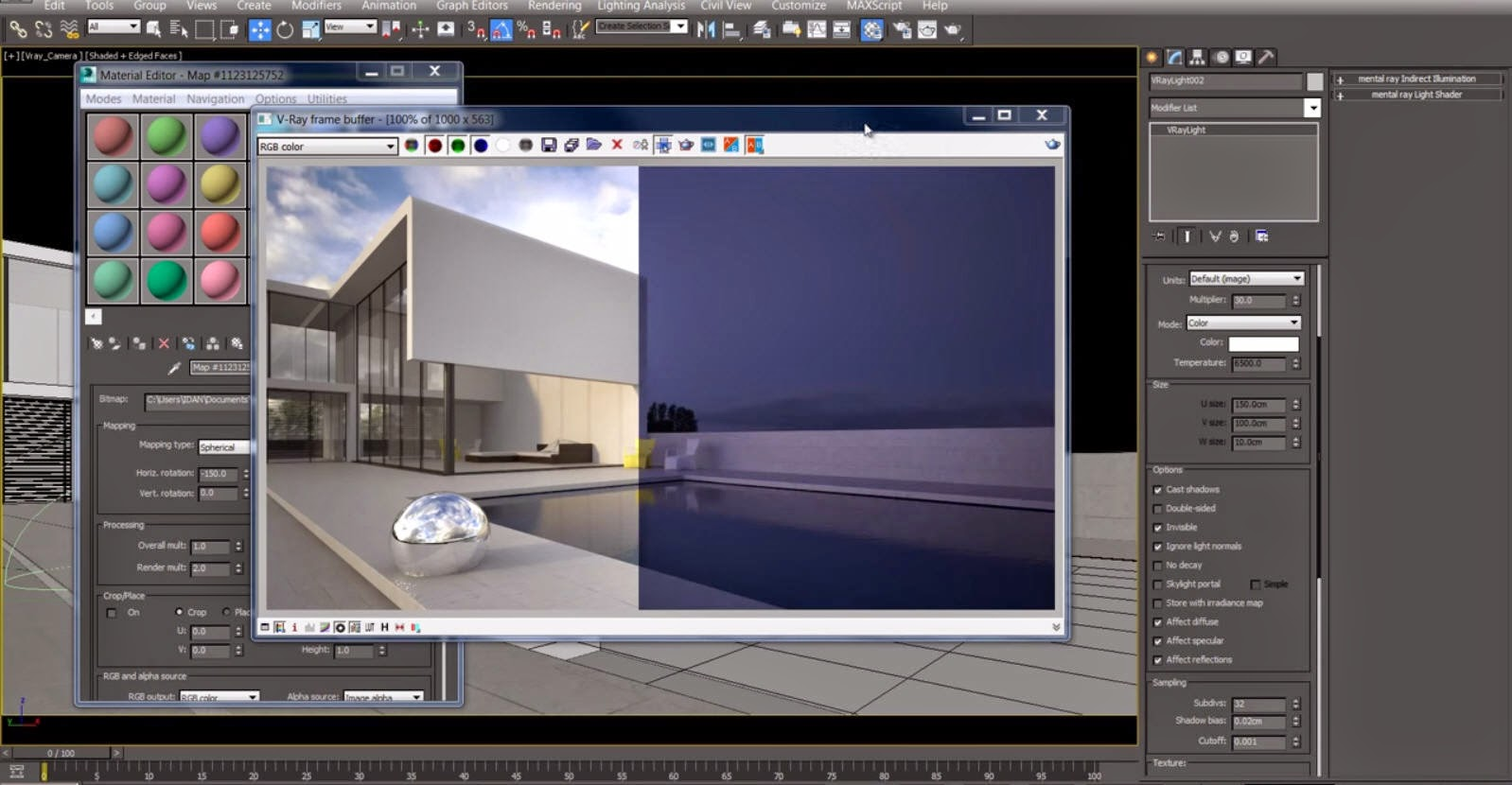 How to setup v ray hdri lighting for exterior render in - Exterior rendering in 3ds max with vray ...