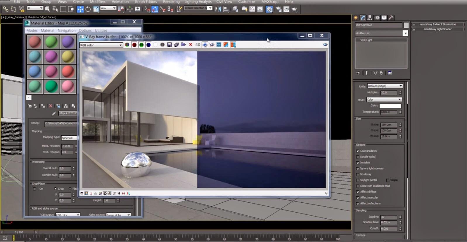 How to setup V-Ray HDRI lighting for Exterior render in 3ds