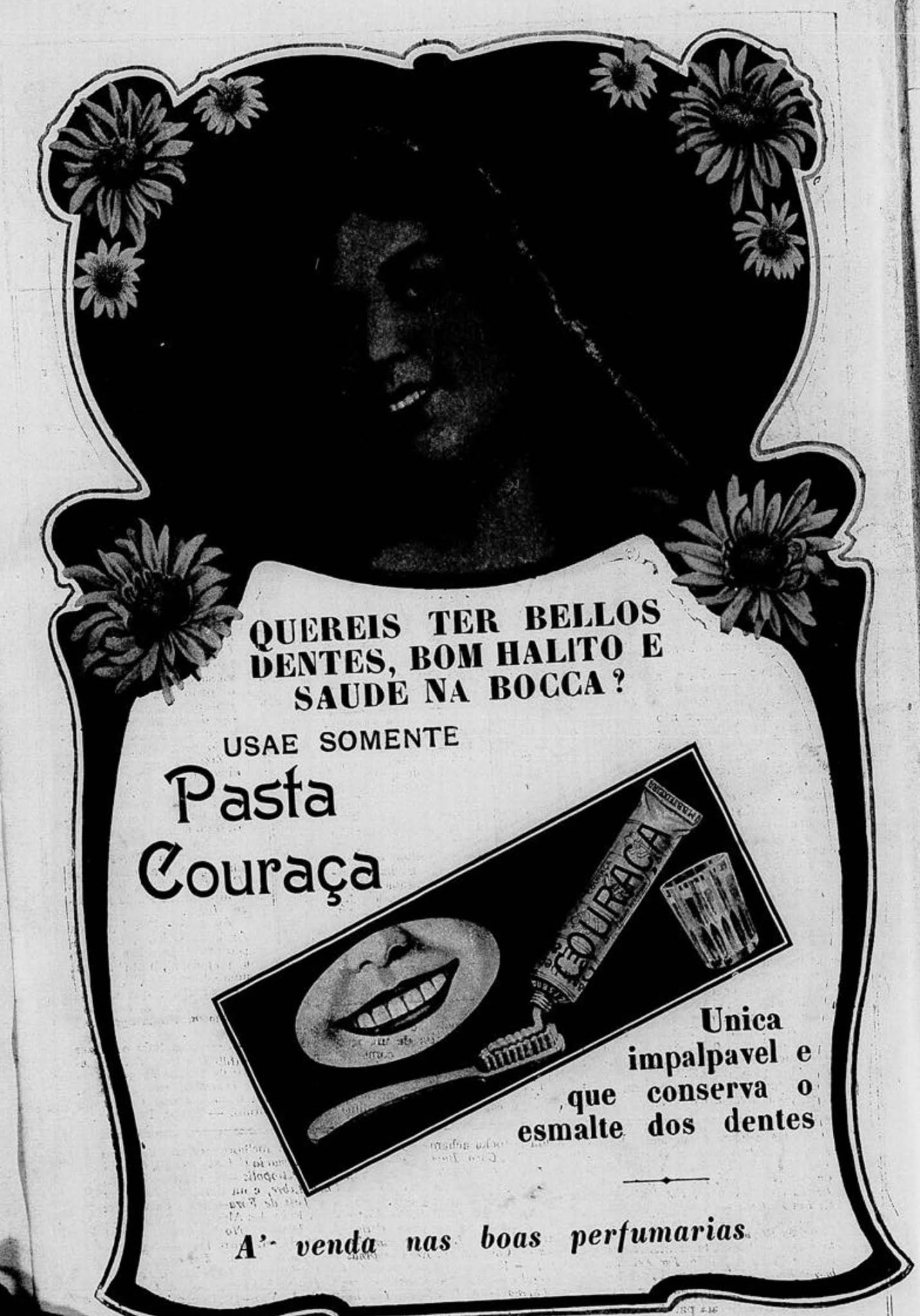 Propaganda antiga da pasta dental Couraça veiculada em 1916