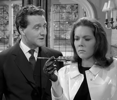 """Patrick Mcnee and Diana Rigg in """"The Avengers"""""""