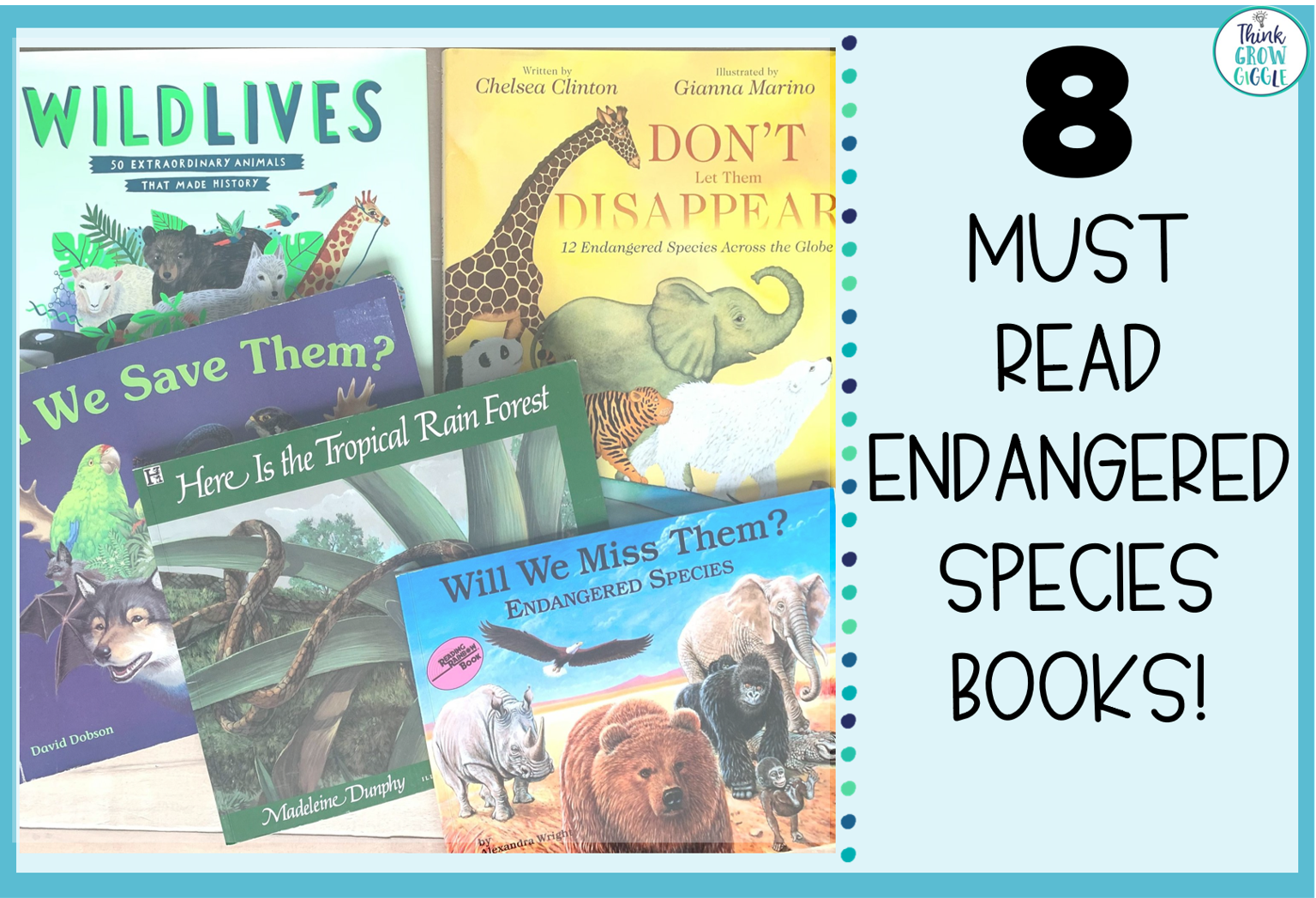 8 Must Read Endangered Species Picture Books