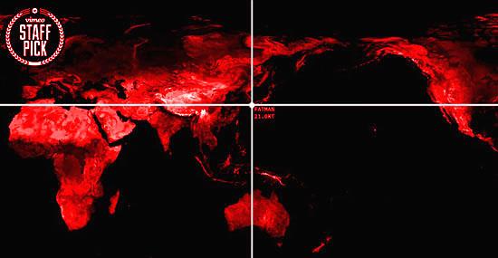 Mapa assustador mostra todas as bombas nucleares que já explodiram no mundo