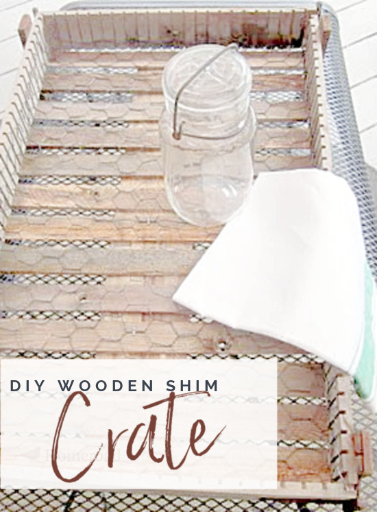 wooden crate with pinterest overlay