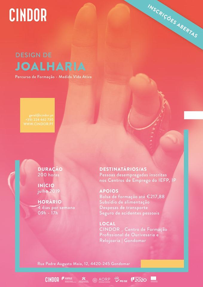Curso de Design de Joalharia – Gondomar (com bolsa de formação até 217,88€)