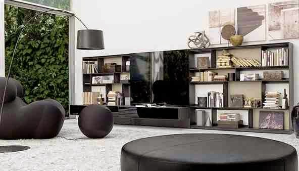 Italian Furniture Design For Living Room, Modern Chair And Wall Units