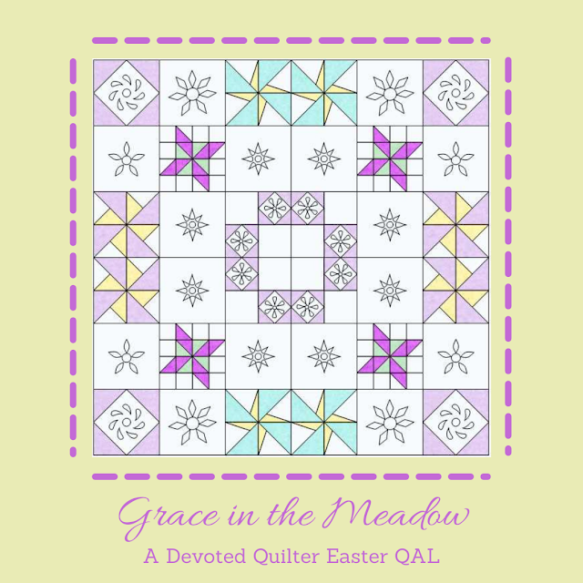 Grace in the Meadow QAL | DevotedQuilter.com