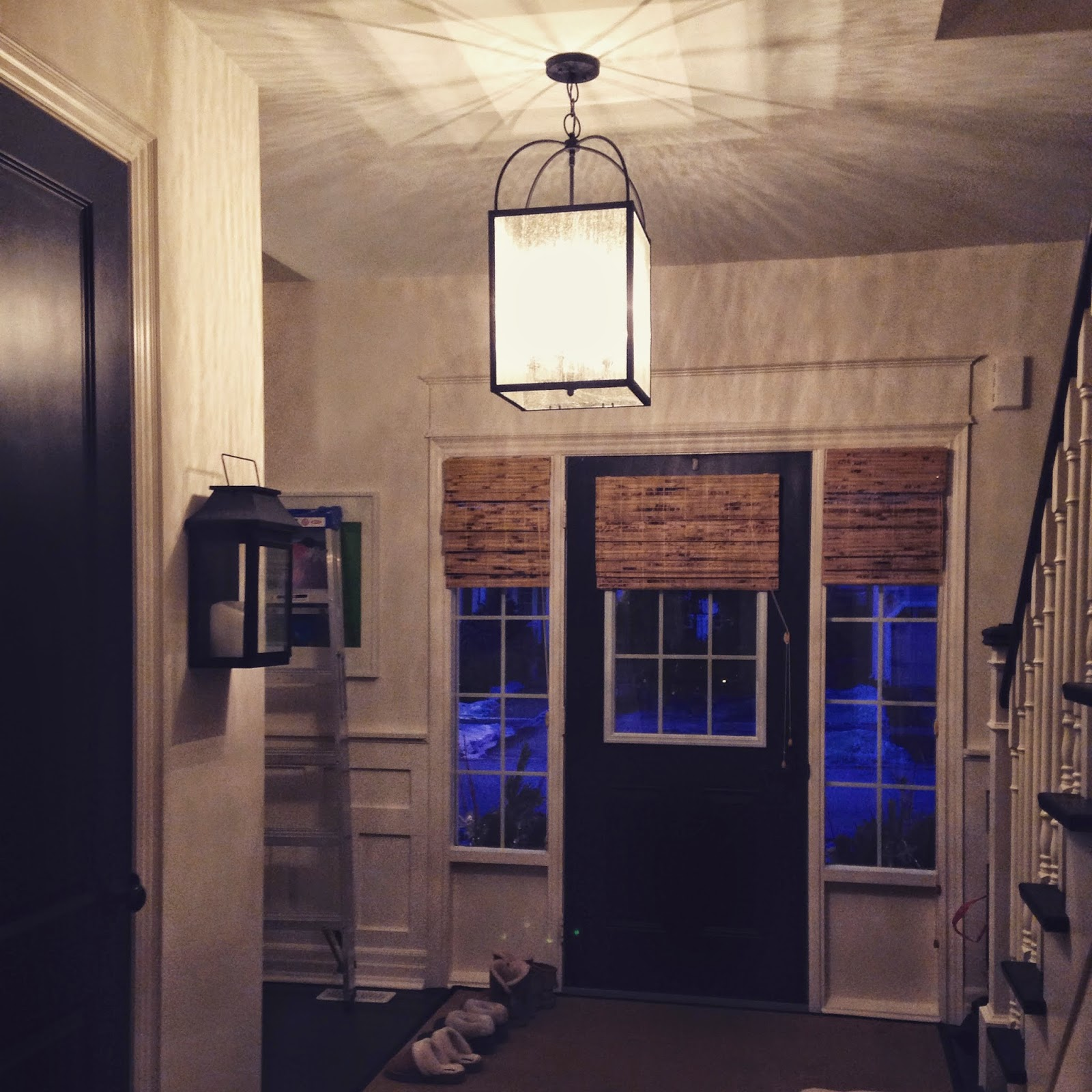 So there you go we have ourselves a new light...I am hoping our flush matching light will arrive very soon...some things are just worth waiting for ... & White Wood : A long journey to find the right foyer light azcodes.com