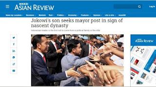 Media Asing Menyoroti Gibran-Bobby Maju Pilkada, Dinasti Politik Jokowi?