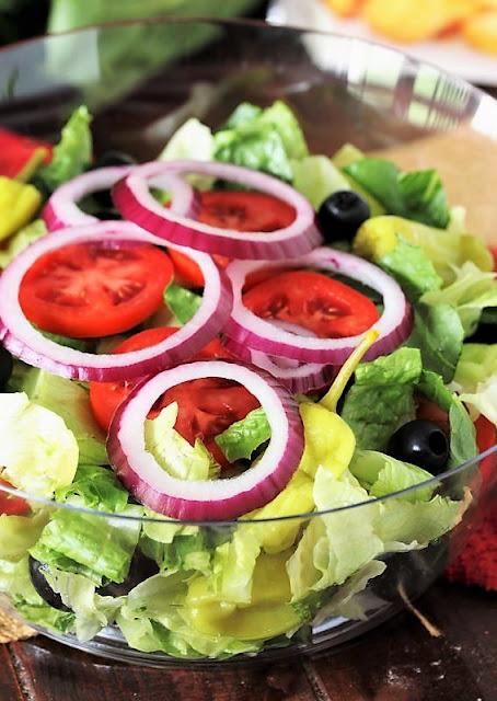 Making a Bowl of Copycat Olive Garden Salad Image