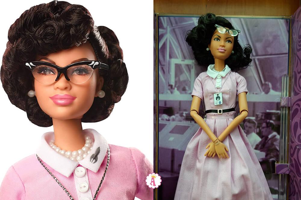 Барби кукла Кэтрин Джонсон промо и реальность