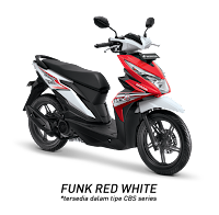 Honda BeAT Sporty eSP CBS ISS Soul Red White