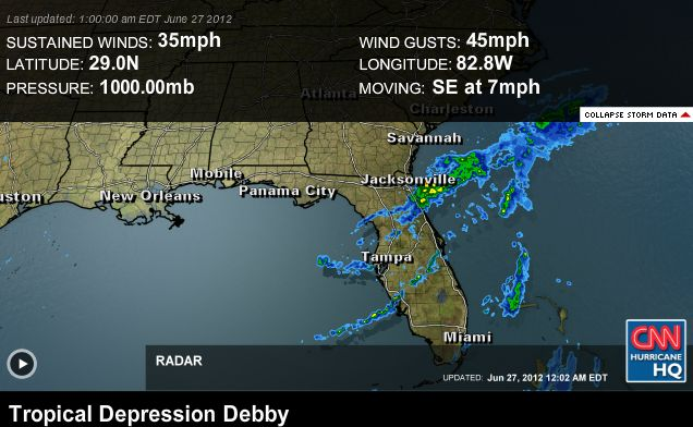 SA Weather and Disaster Observation Service: Debby ...