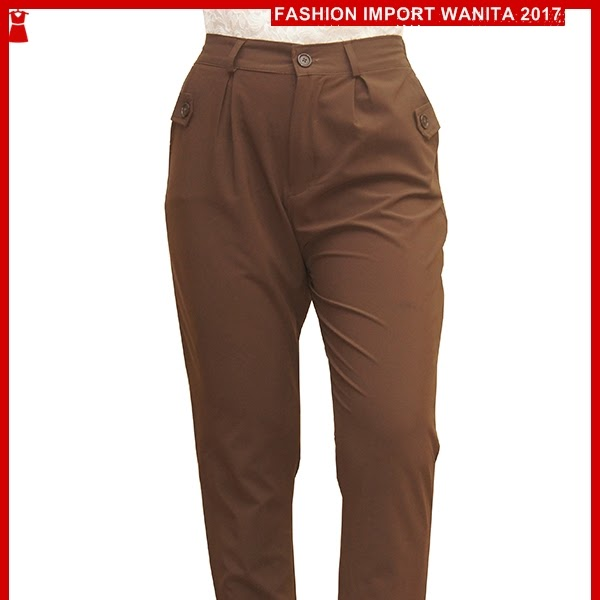 ADR056 Celana Wanita Coklat Panjang Jogger Import BMG