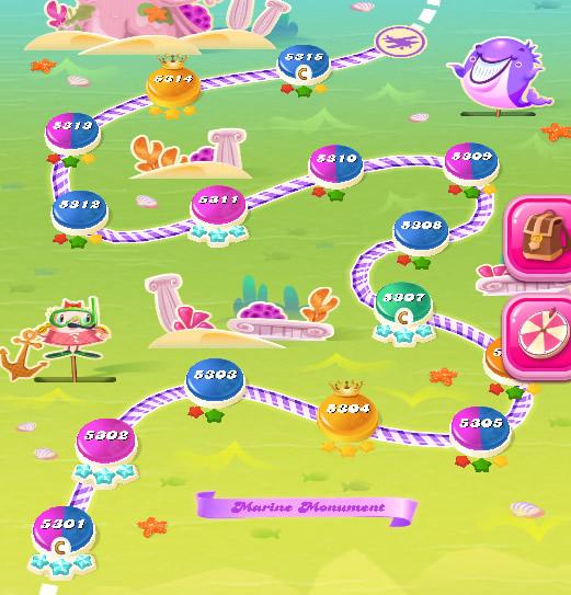 Candy Crush Saga level 5301-5315
