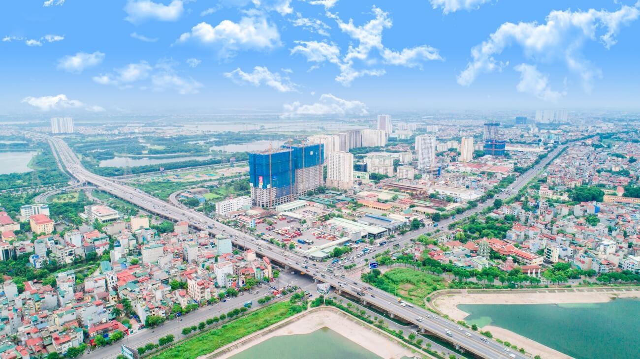 Tầm nhìn trên cao dự án số 1 Trần Thủ Độ