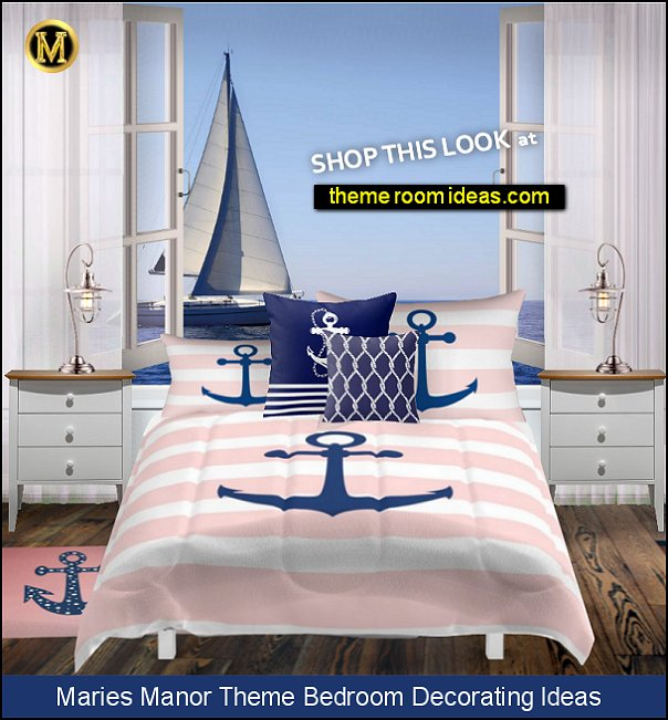 nautical bedroom girls pink blue nautical bedroom ideas stripe bedding nautical mural
