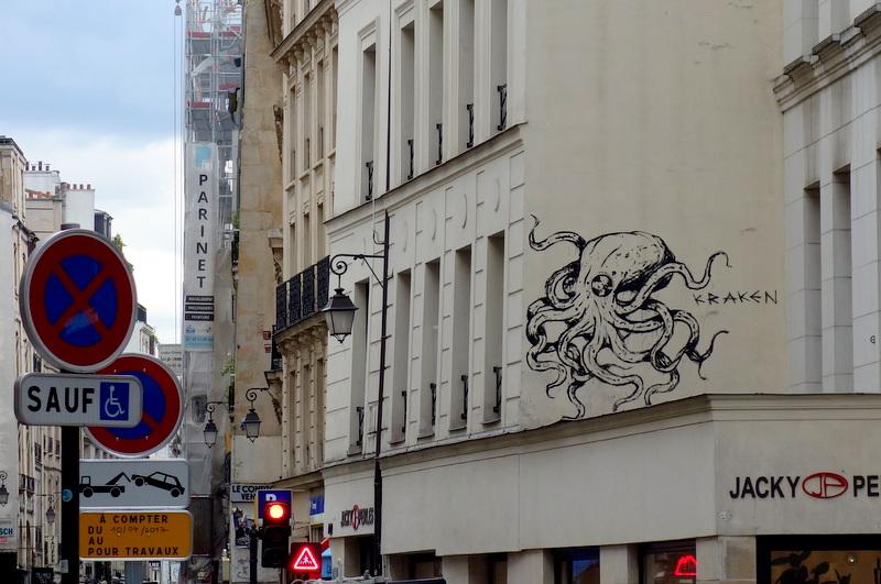 Bien-aimé Sunday Street Art : Kraken - rue du Temple - Paris 3   Paris la douce JI46