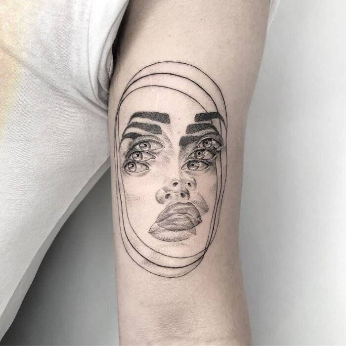 Trippy Tattoos | Mexican Tattoo Artist Creates Double Vision Tattoos