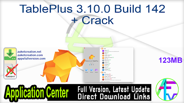 TablePlus 3.10.0 Build 142 + Crack