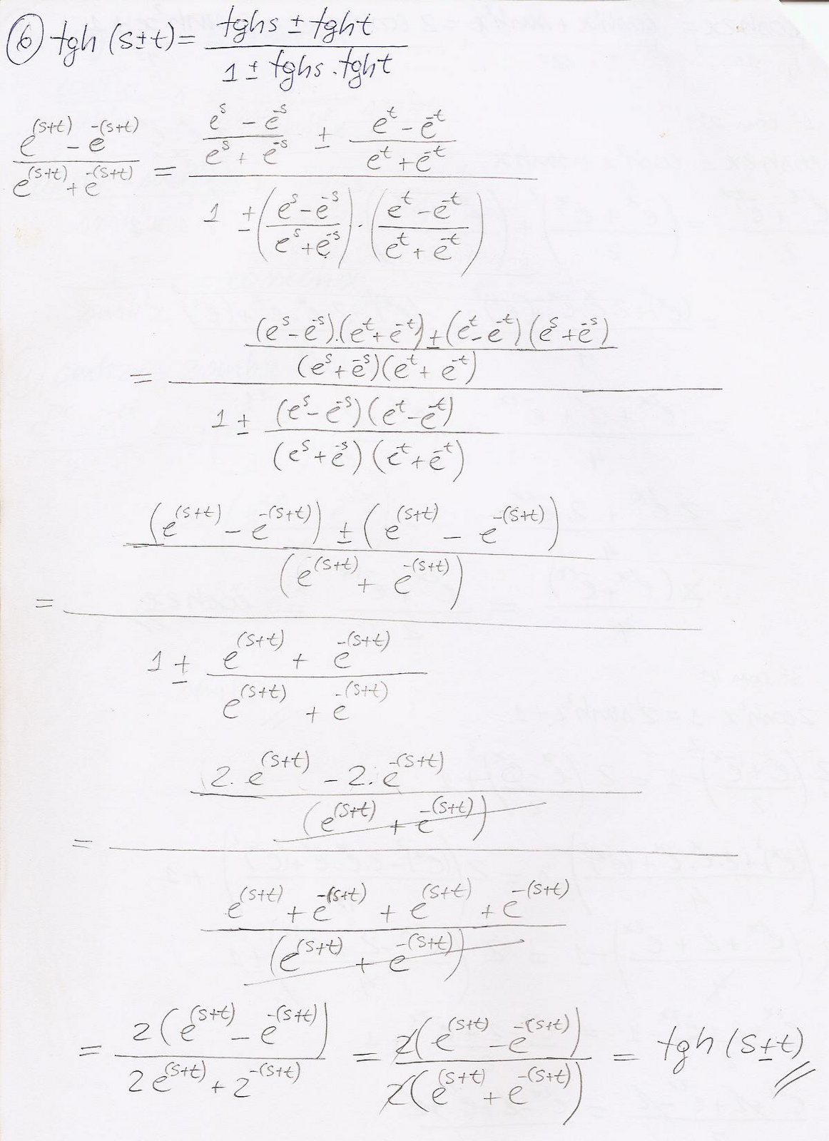 Professores, organizem sua escrita matemática - tangente hiperbólica
