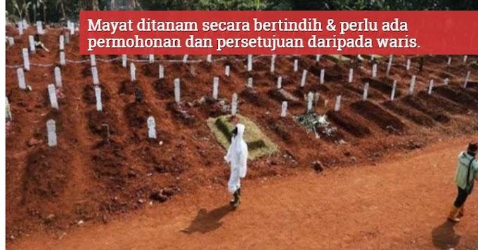 Kubur Penuh,Mayat Pesakit COVID-19  Terpaksa 'Tumpang' Kubur Jenazah Lain