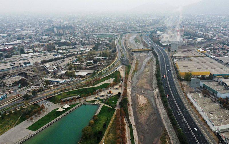 así será el parque más largo de Santiago
