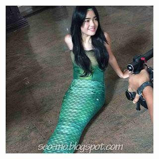 Foto Amanda Manopo sebagai Ariel Putri duyung di Mermaid In Love SCTV