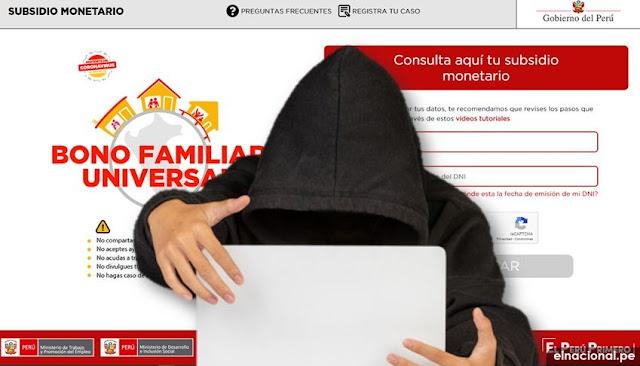 Ciberdelincuentes hackearon sistema bono universal