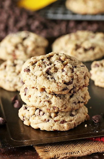 Stack of DoubleTree Chocolate Chip Cookies Image
