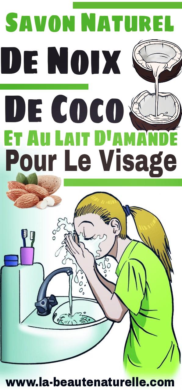Savon naturel de noix de coco et au lait d'amande pour le visage