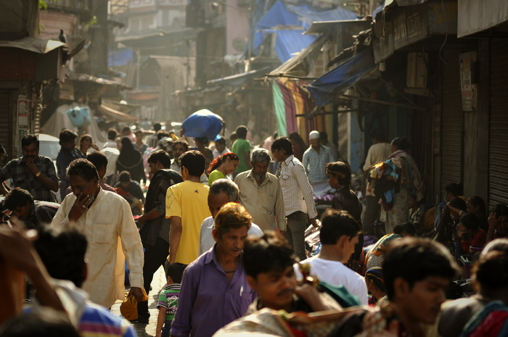 India is the land of people and the amount of people is increasing in the cities and megacities of India. Like in this picture taken in the Chor Bazaar area of Mumbai in India. Mumbai suffers from the same major urbanisation problems seen in many fast growing cities in developing countries: widespread poverty and unemployment, poor public health and poor civic and educational standards for a large section of the population.