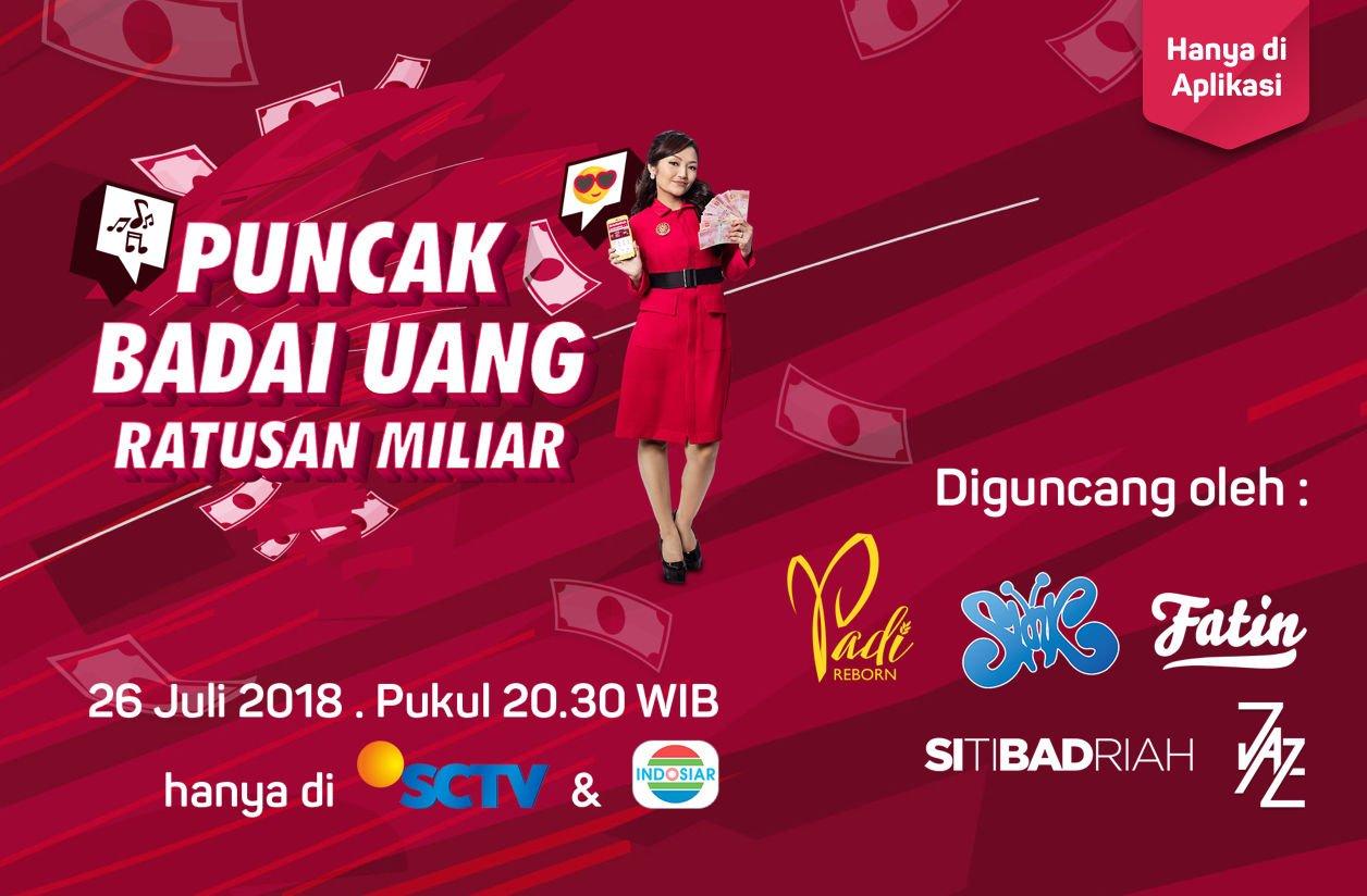 Bukalapak - Promo Puncak Badai Uang Ratusan Miliar (26 Juli 2018)