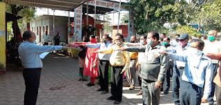 सुशासन दिवस के अवसर पर शासकीय अधिकारियों व कर्मचारियों ने ली शपथ