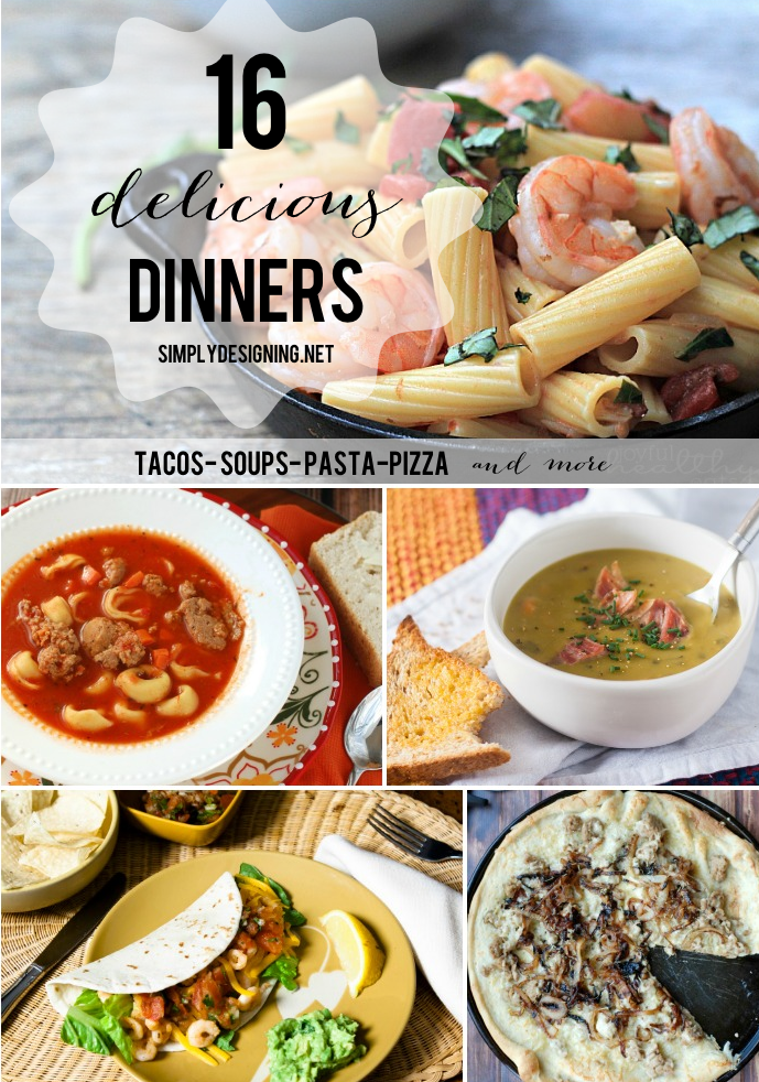 16 Delicious Dinners | #dinner #recipes #whatsfordinner