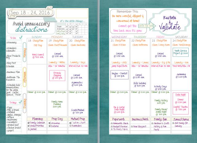Weekly Spread Mormon Mom Planner