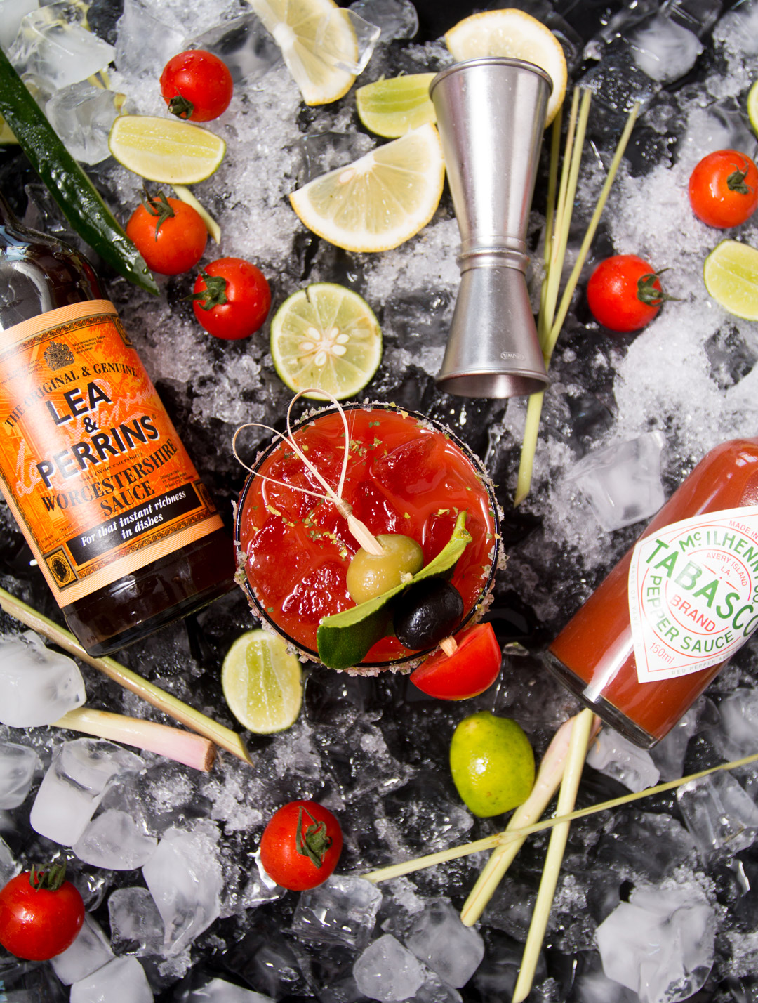 Bloody Mary Beverage Photography