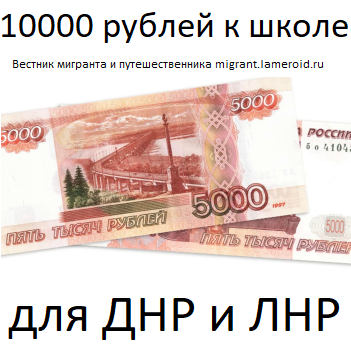 """Как жителям ДНР и ЛНР получить """"путинские"""" 10000 рублей на ребёнка к школе?"""