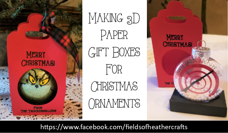 Making 3d Paper Gift Boxes For Christmas Ornaments