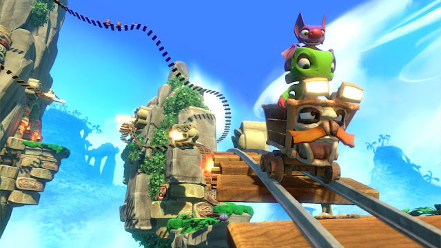 Yooka-Laylee Kartos The god of Ore minecart