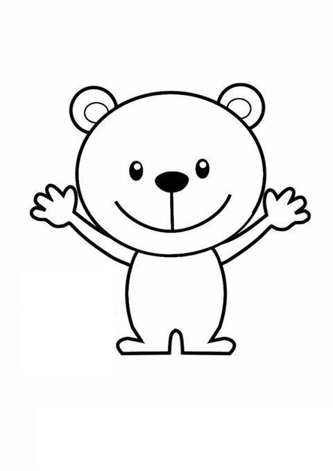 Tranh tô màu con gấu đơn giản